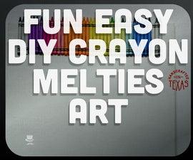 Easy Rainbow Crayon Melties Art! LGBT PRIDE
