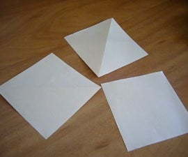 A 3 square paper toy