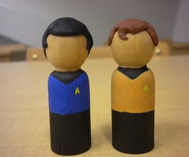 "Kirk and Spock ""Peg"" People"