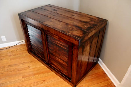 Upcycled TV Stand Distressed With Fire!