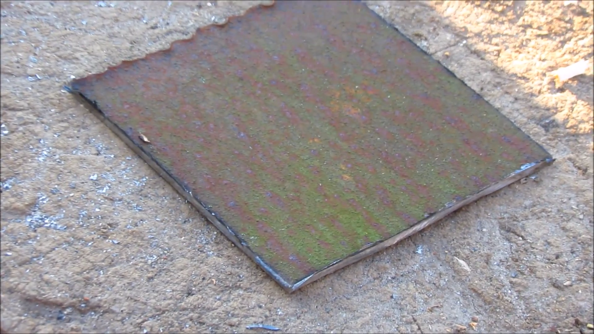 Picture of MAKE a SQUARE METAL PLATE