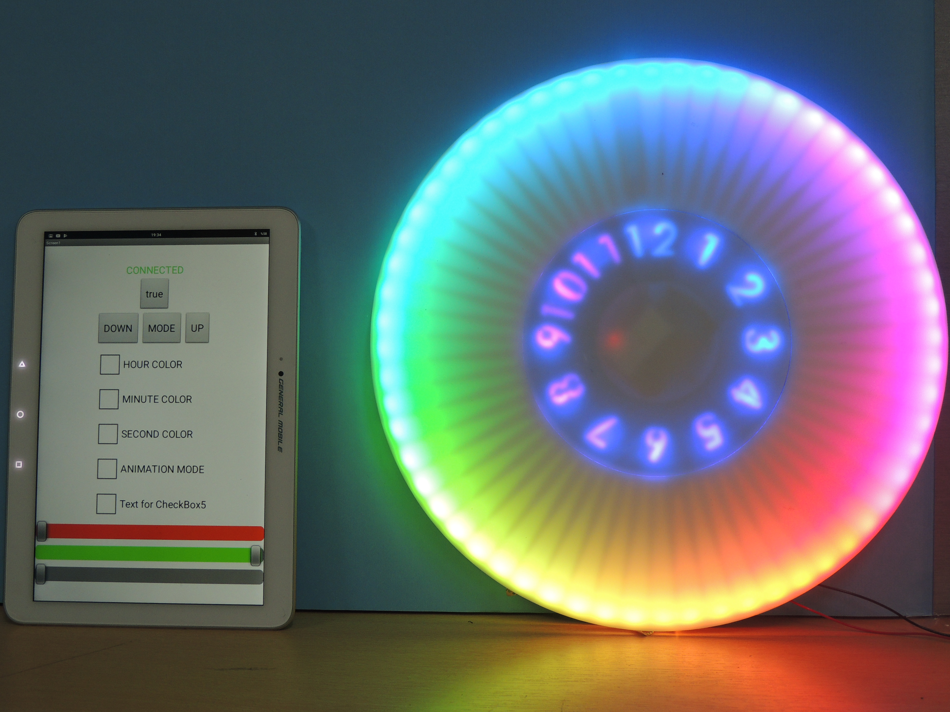 Picture of ANIMATED RGB WALL CLOCK