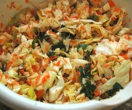 Savory Raw Vegan Coleslaw