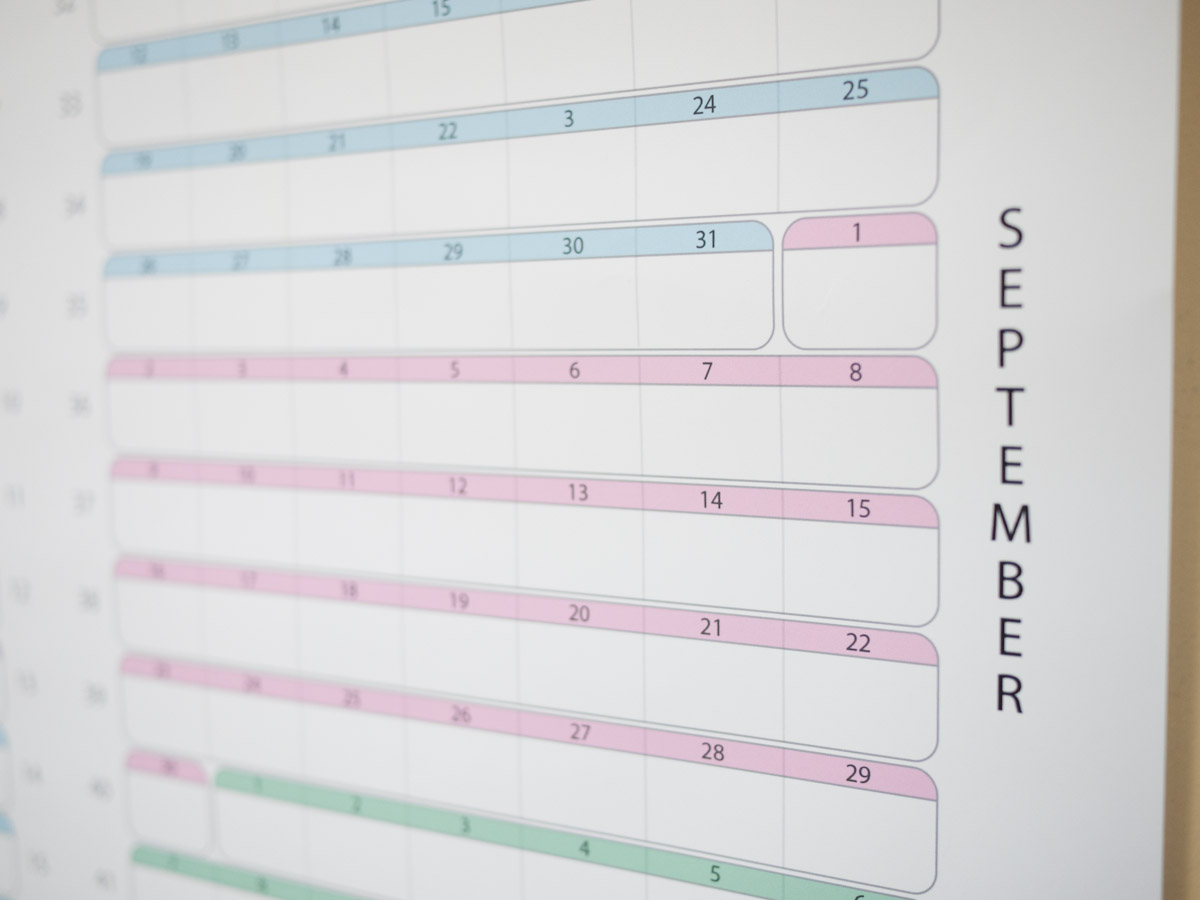 Picture of One Year Continuous Calendar Poster
