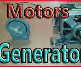 How to Wire a Washing Machine Motor As Generator