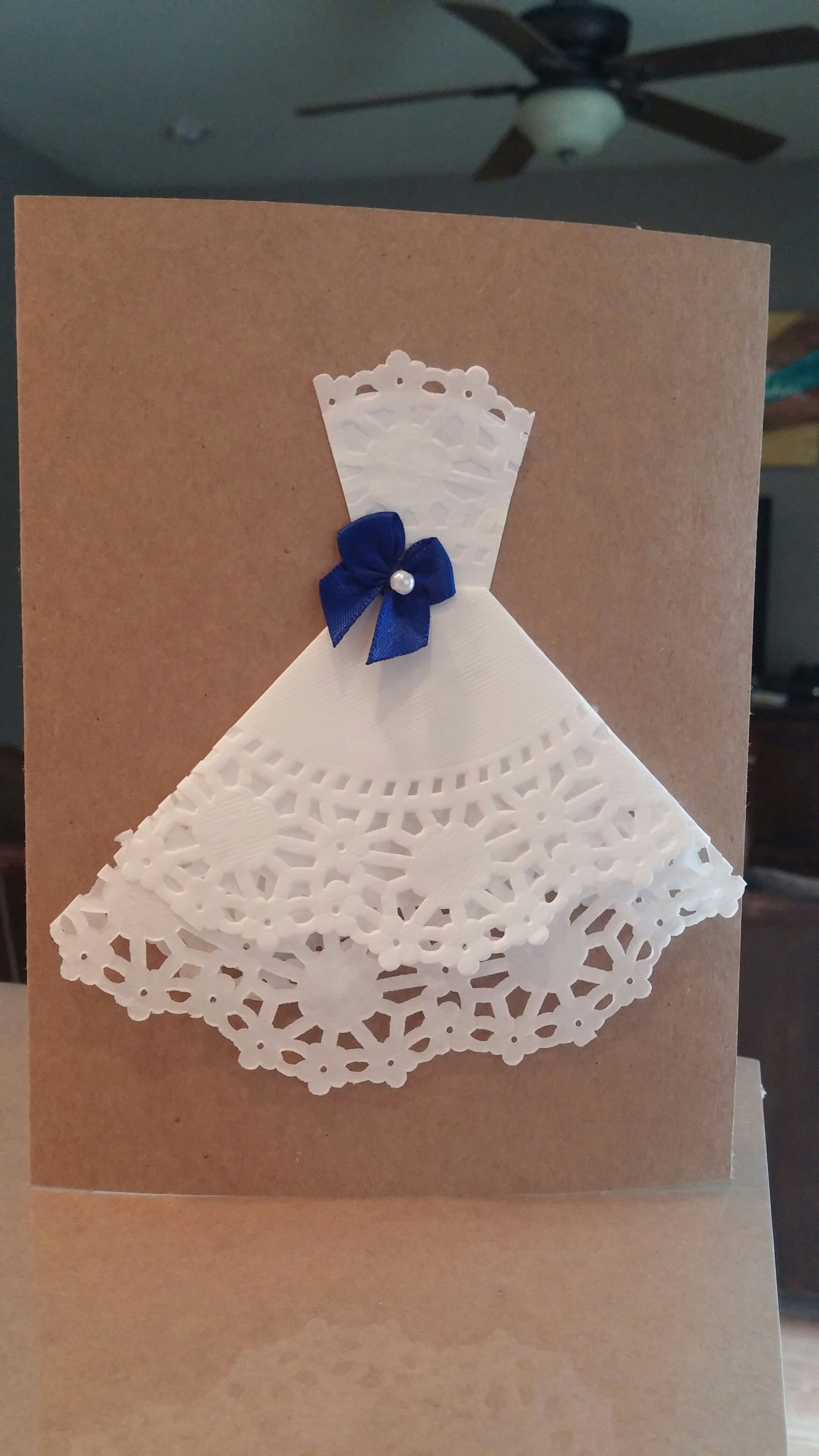 Picture of Doily Wedding Dress Bridal Shower Invitation