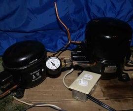 Making a Fridge Compressor Into a Vacuum Pump