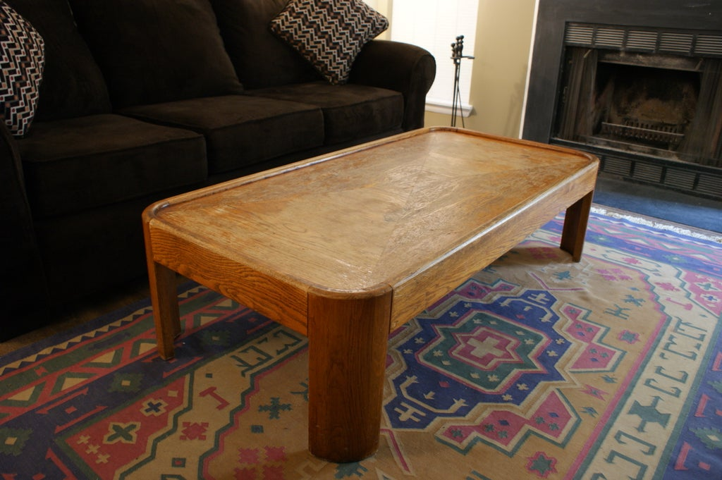 How To Refinish A Wooden Coffee Table.Refinishing An Old Wooden Table 5 Steps With Pictures
