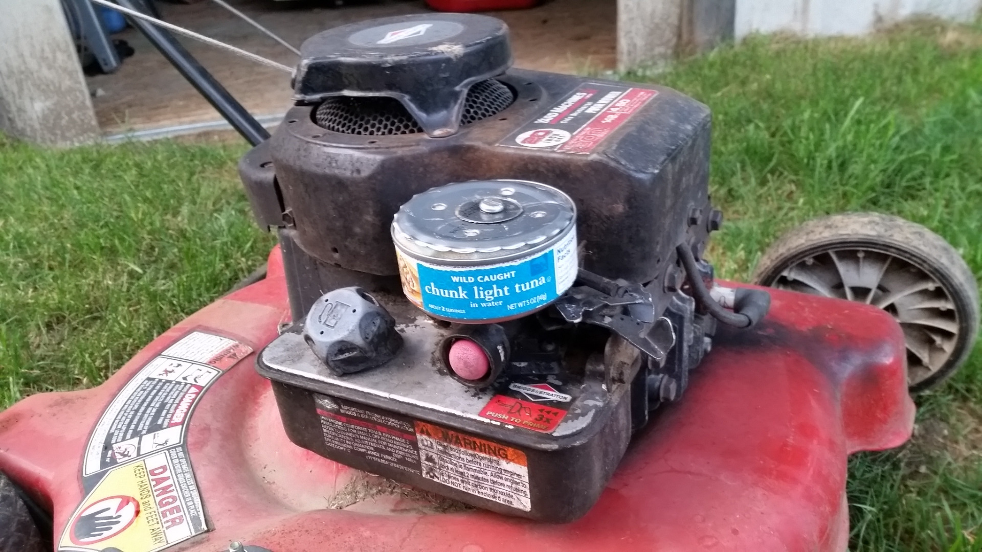 Picture of Rat Rod Style Lawnmower With Character