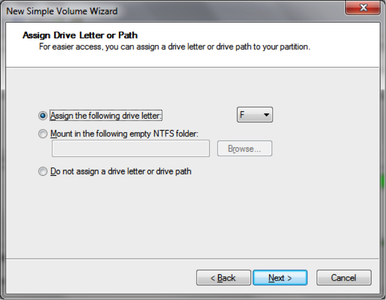 Assign Drive Letter