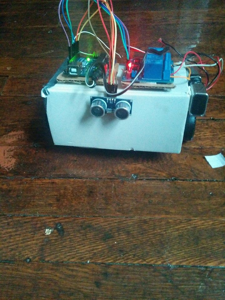 Picture of Obstacle Avoider Robot Using Relay Board