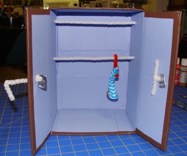 Doll Closet Made From Recycled Items