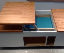 Coffee Table w/ Raising Top/compartment