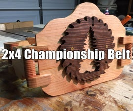 2x4 Championship Wrestling Belt