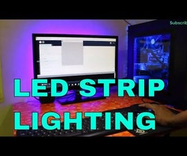 Control LED Strip Intensity Using Mouse Scroll Button    Install LED Strip at the Back of Your MONITOR