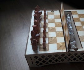 Lasercut Chess Board