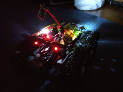 Arduino Lego Technic Racer 42065 + PS2 + Wireless 2.4GHz NRF24L01