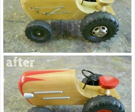 Restoring a Wooden Toy Tractor