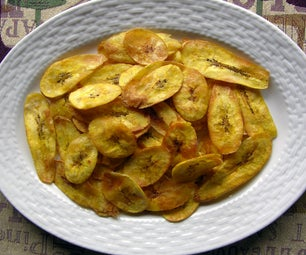 Pan Fried Plantain Chips