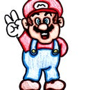 How to Draw Peace Mario!