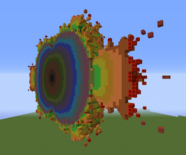 A rainbow of fractals in Minecraft