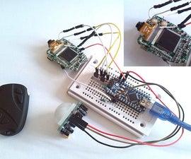 Arduino Keychain Camera Modify to Motion Detect Camera