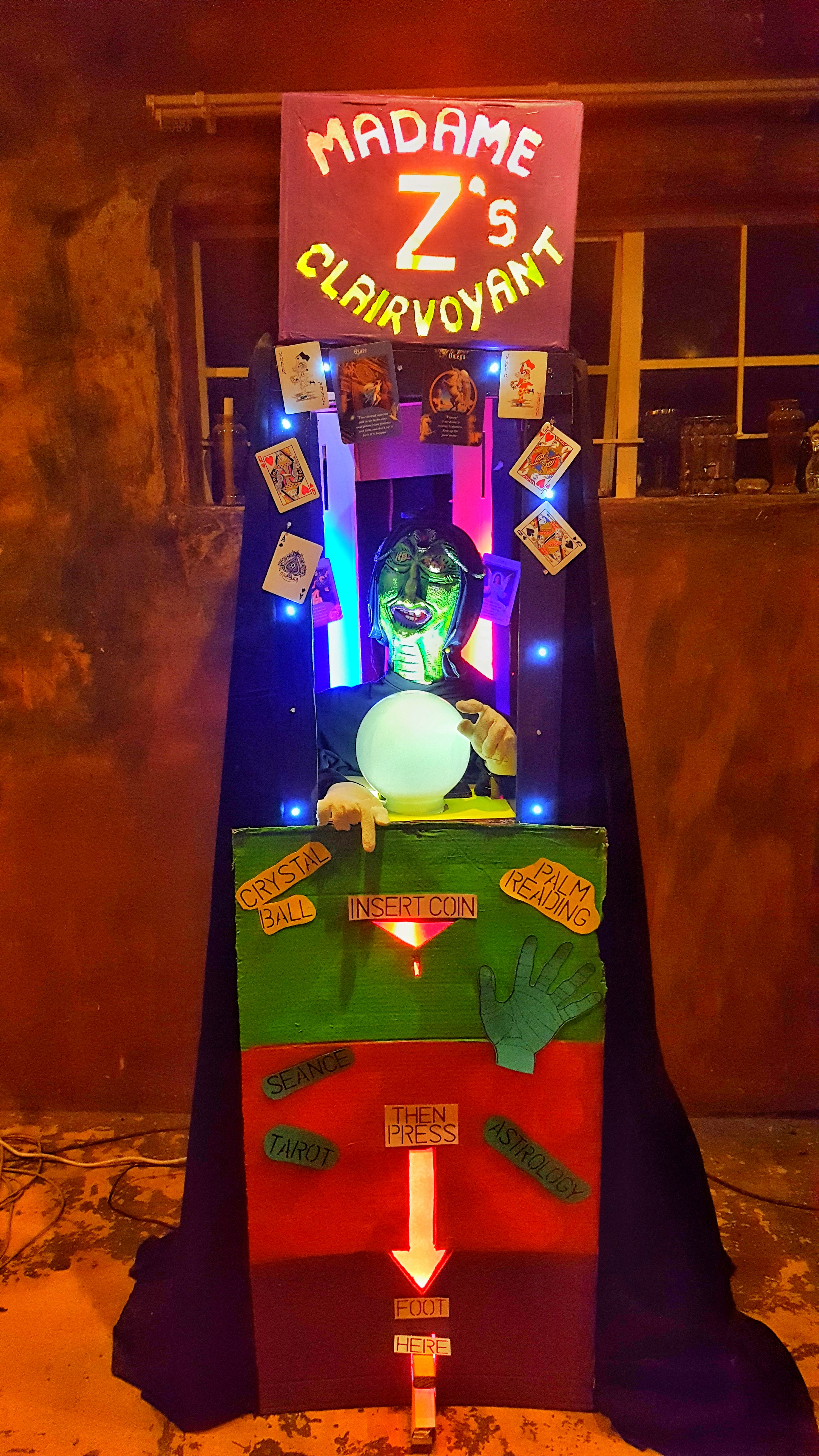 Picture of Mechanical Clairvoyant Halloween Prop