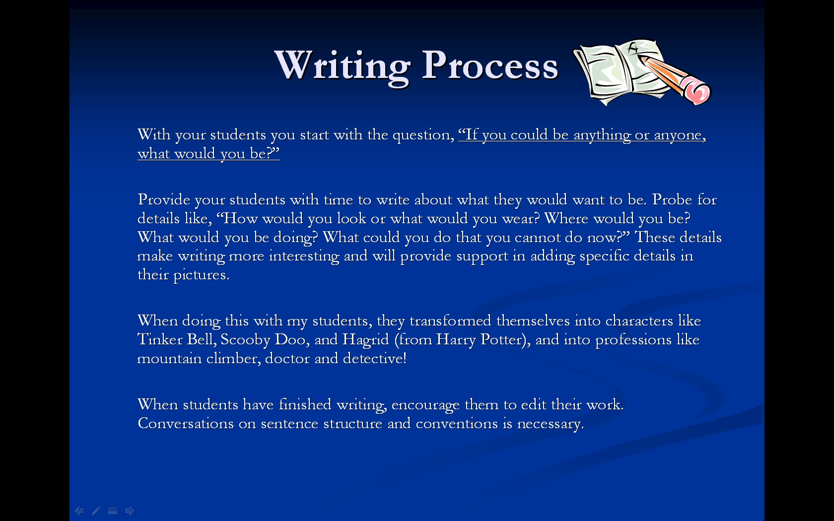 Picture of Story Writing