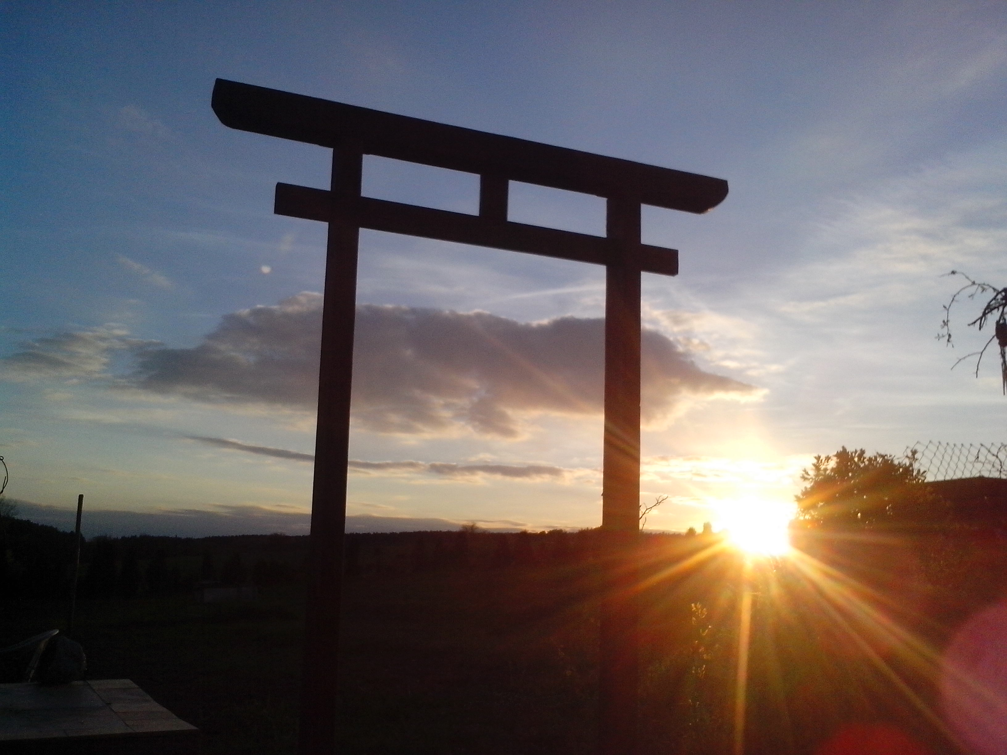 Picture of Ornate Japanese Torii Gate for the Garden