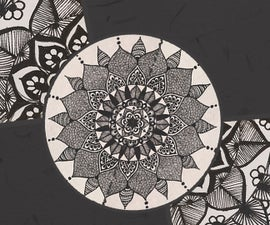 Episode 2: A Black And White Mandala   Fancy Doodling
