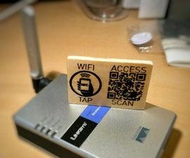 Laser Engraved QR & NFC WiFi Access Card