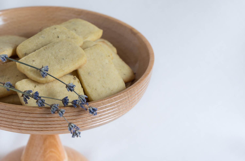 Picture of Vegan Lavender Shortbread Cookies
