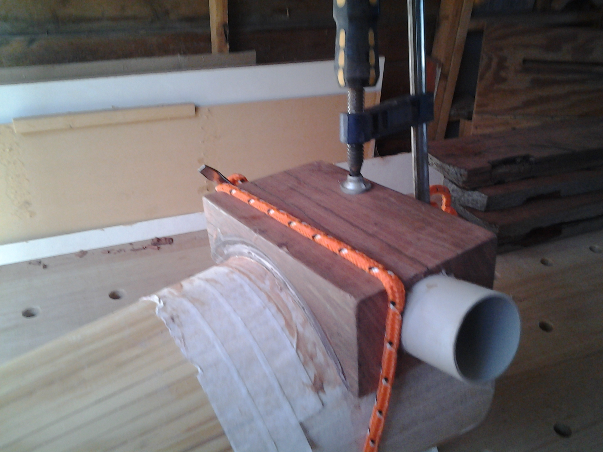 Picture of PVC Support Gluing.