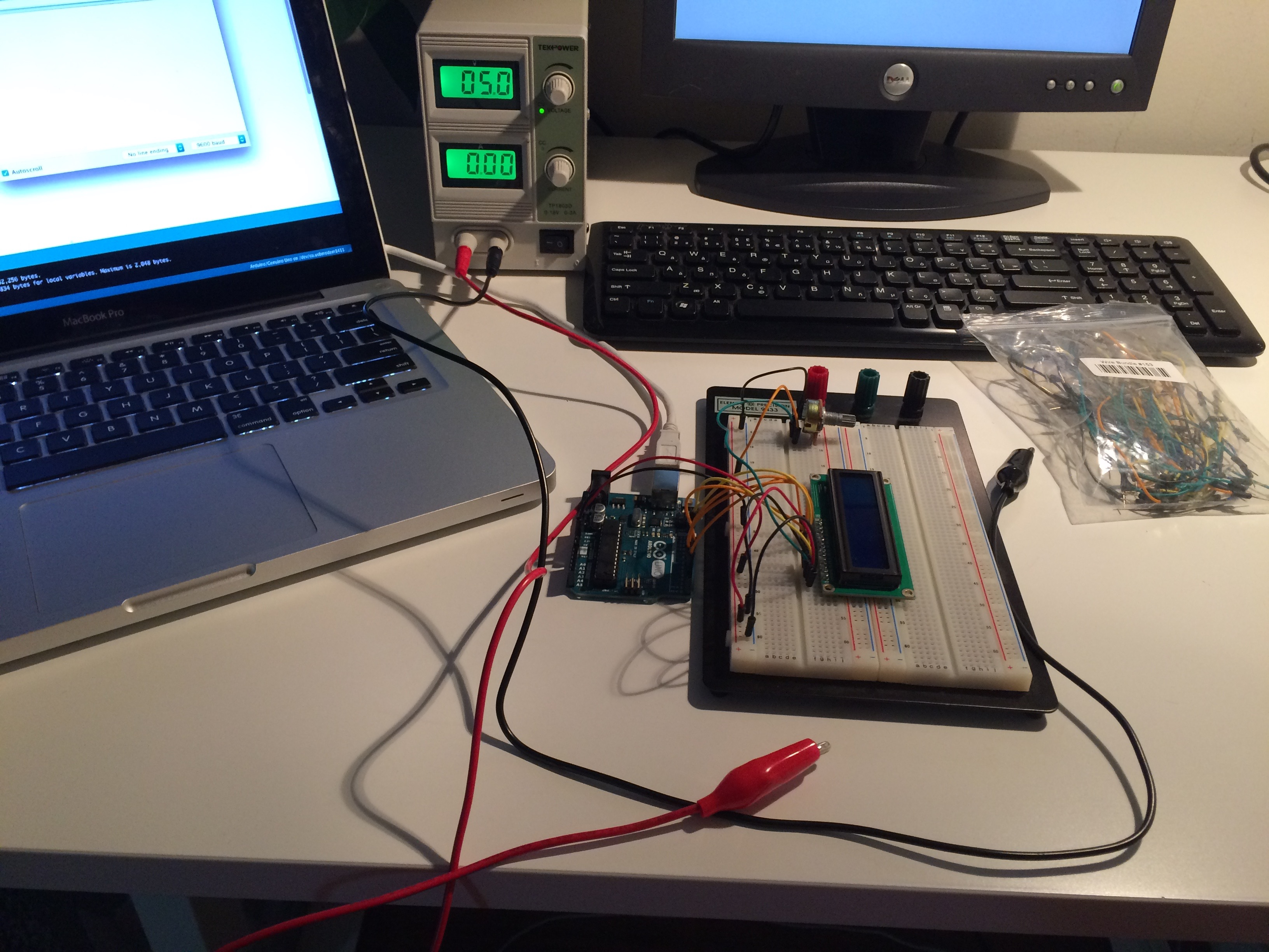 Picture of Raspberry Pi and Arduino LCD