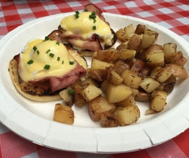 Camp Food inspiration - Eggs Benny