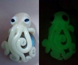 Glow in the Dark Octopus Pendant