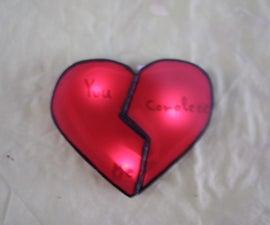 LED,Magnetic heart.