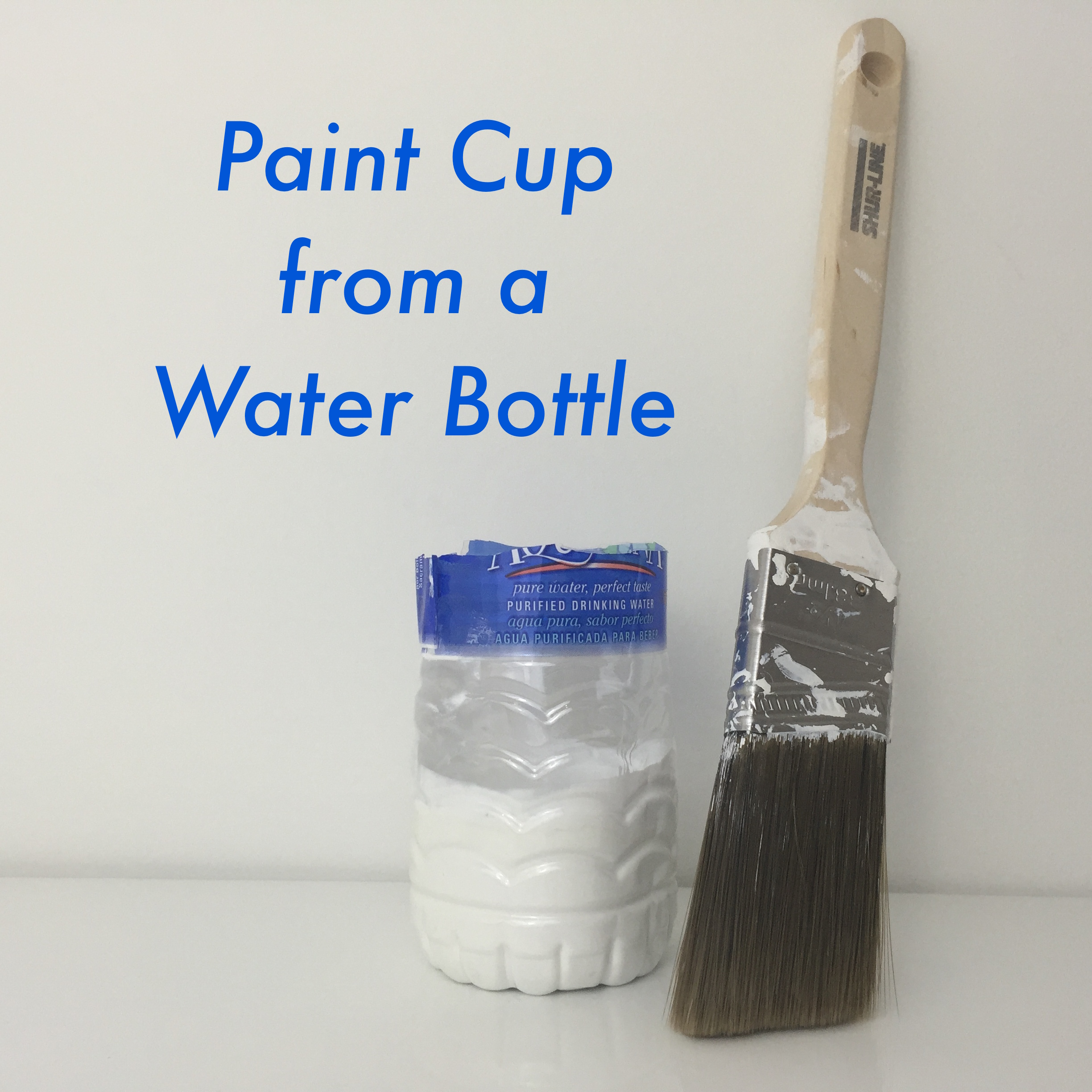 Picture of Handy Tip #4: Paint Cup From a Water Bottle
