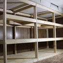 Giant Shelves Made From 2x4s and Plywood