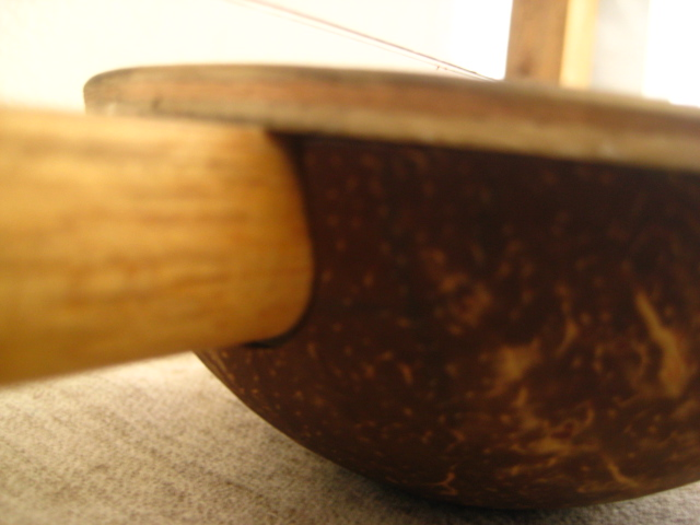Picture of Glueing the Erhu...
