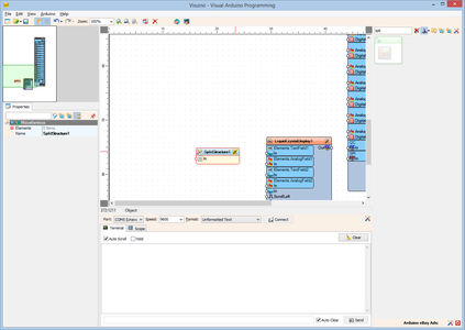 In Visuino: Add Split Structure Component, and Add Analog Channels to It