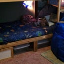 Ikea Kura bed converted to bunkbed