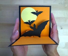 Halloween Bat Greeting Card
