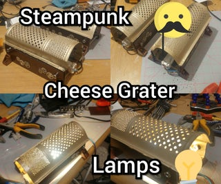 Steampunk Cheese Grater Lights