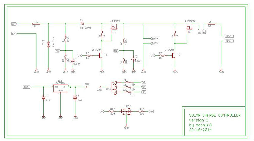 ARDUINO SOLAR CHARGE CONTROLLER ( Version 2.0): 26 Steps (with Pictures)