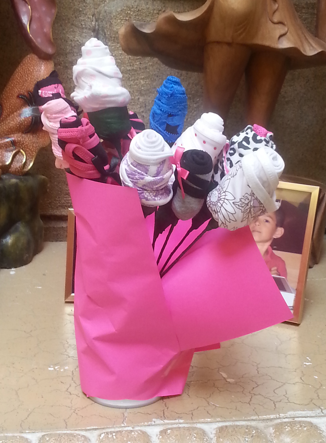 Picture of Valentines Panties Flower Bouquet