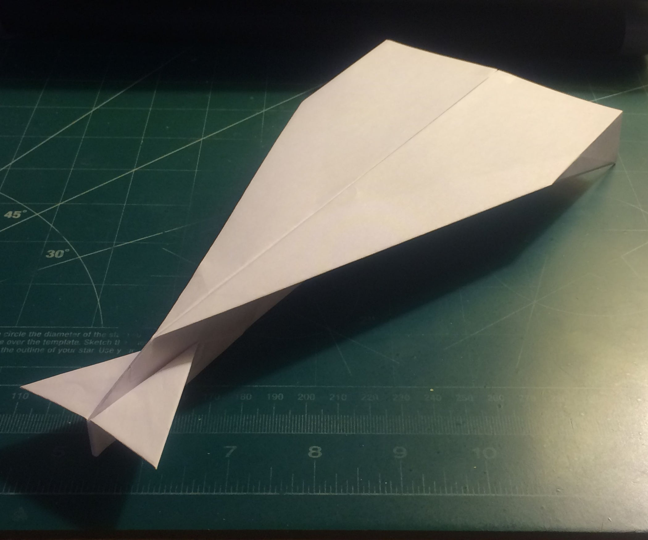 How to Make the StratoDagger Paper Airplane