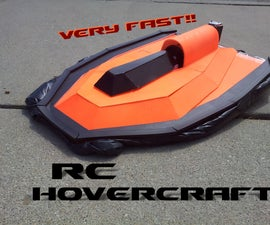 Very Fast RC Hovercraft
