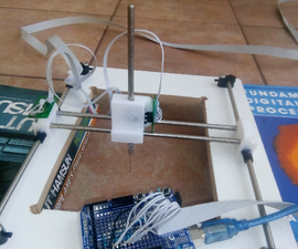 XYZ Point Scanner Using Salvaged Rotary Encoders