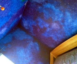 How to paint a star/night-sky themed nursery that will last until high school.